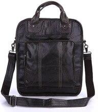 Men Briefcases  Bag Cow Leather Vintage  Business Brand Designer Fashion Handbag 15