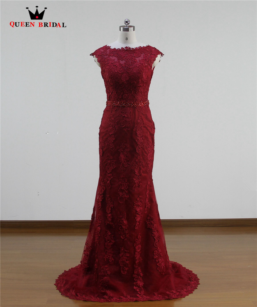 Wine Red Long Mermaid Bridal Gown Vestidos De Novia 2018 robe de mariee Custom Made Vintage Marriage Wedding Dresses WA33