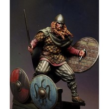 Soporte antiguo vikingo de fantasía, 1/24 75mm, modelo de resina de 75mm, figura en miniatura sin montar, sin pintar