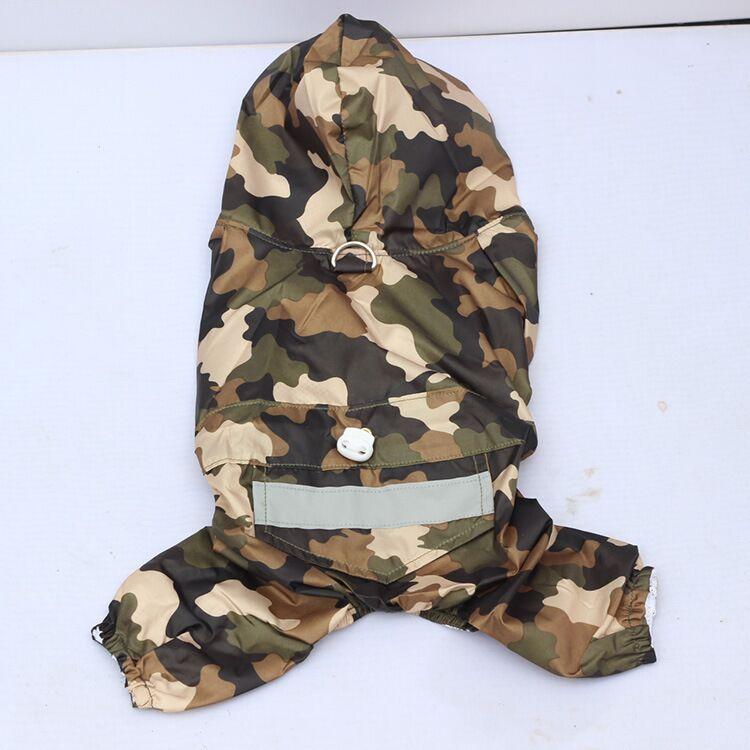 D20 Pláštěnka pro psy nepromokavá Taffeta pláštěnka pro 4 nohy jarní / podzimní oblečení Oblečení pro domácí zvířata