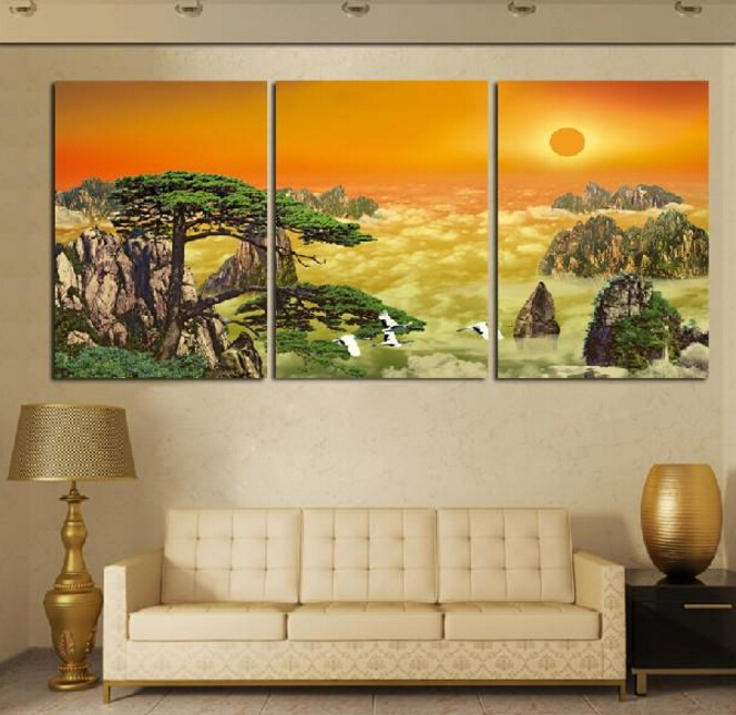 Online Shop 3 Panel Modern Home Decorative Art Picture Paint on ...