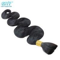 BHF Human Braiding Hair Bulk Body Wave Brazilian Raw Human Hair Bulk 100G 1b Natural Black