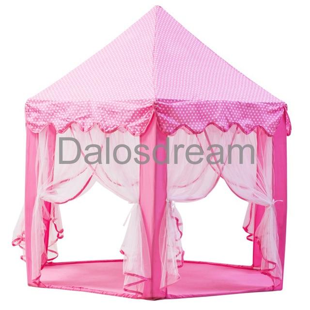 Dalosdream Princess Children Tent Pink Castle Playhouse Lovely Children Kids Play Tent Indoor Kids Teepees For  sc 1 st  AliExpress.com & Dalosdream Princess Children Tent Pink Castle Playhouse Lovely ...