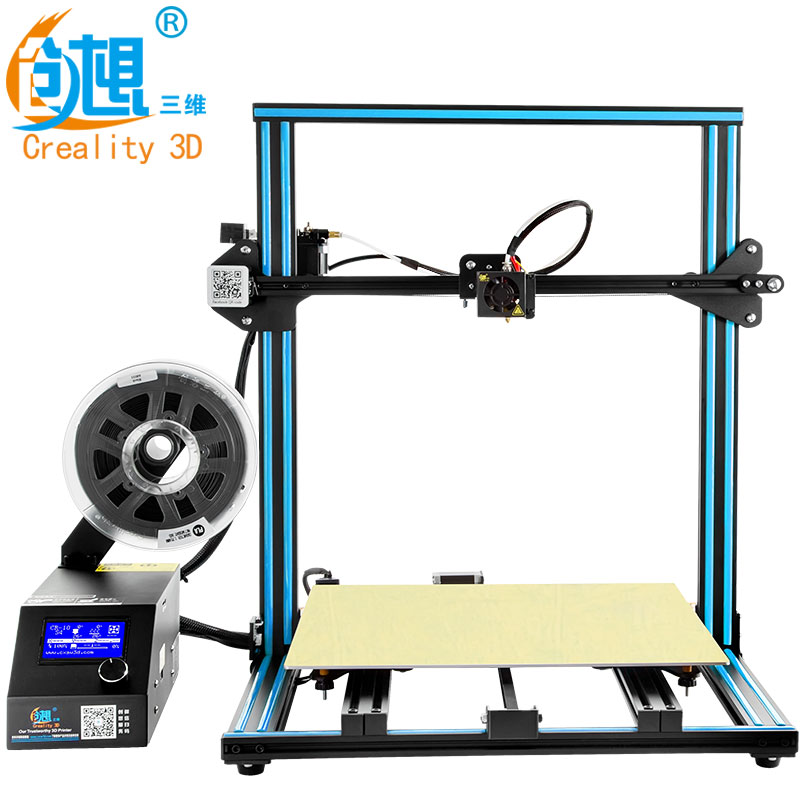 CREALITY 3D CR-10 Large Printing Area Open Build Aluminium Frame 3D Printer kit printer 3d machine with Heated Bed цены