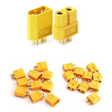 100pcs High Quality XT60 XT-60 XT 60 Plug Male Female Bullet Connectors Plugs For RC Lipo Battery (50 pair) Wholesale цена