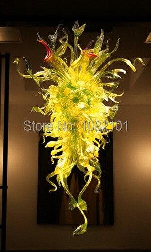 BGC2011-Beautiful yellow murano art glass chandelier.jpg