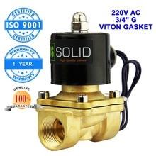 U.s. solid 3/4 «en laiton Électrique Électrovanne 220 V AC G Fil Normalement Fermé diesel kérosène alcool Air Gas Oil Eau