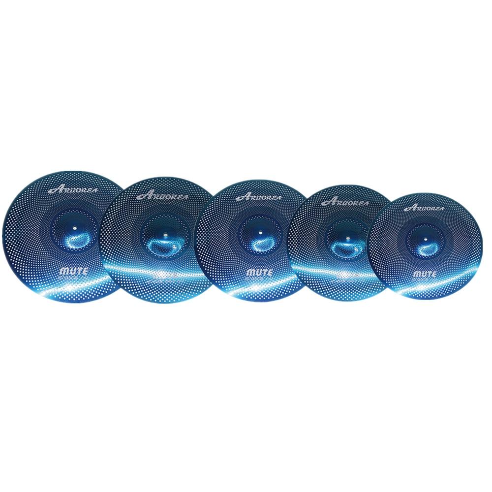 Arborea Mute Cymbals, Blue  Mute Cymbal Set 14
