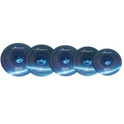 Arborea stumm becken, blau stumm cymbal set 14 hihat + 16 crash + 18 crash + 20 fahrt