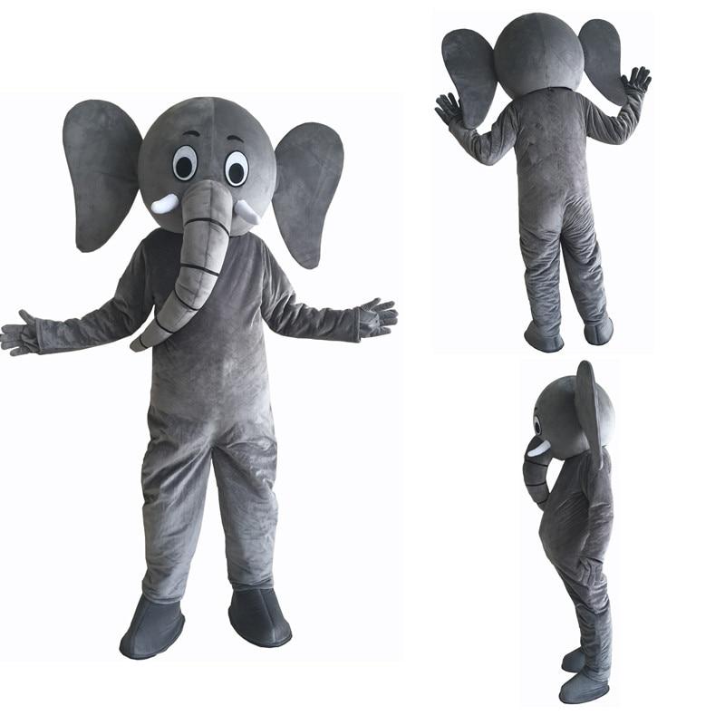 nuevos trajes de mascota de elefante nariz larga y oreja grande - Disfraces