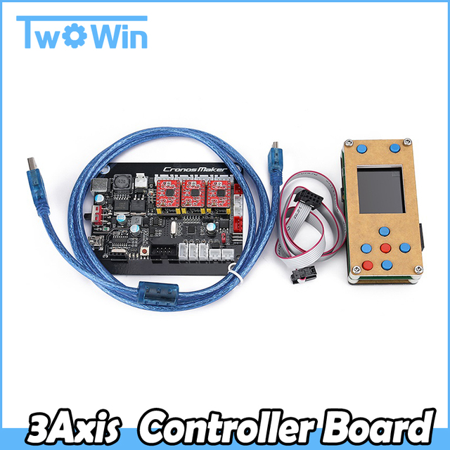 US $23 59 40% OFF| GRBL Offline 3Axis Controller Board Stepper Motor Double  Y Axis USB Driver Board For GRBL For Laser Engraving Machine Carving-in