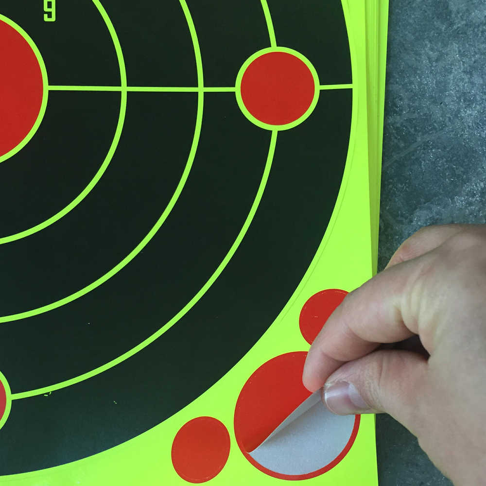 """12 inch Lijm """"Stick & Ploetert"""" Reactieve Schieten Doelen voor Pistool, Geweer, Pistool, airSoft BB Gun, Pellet Pistool, Air Rifle"""