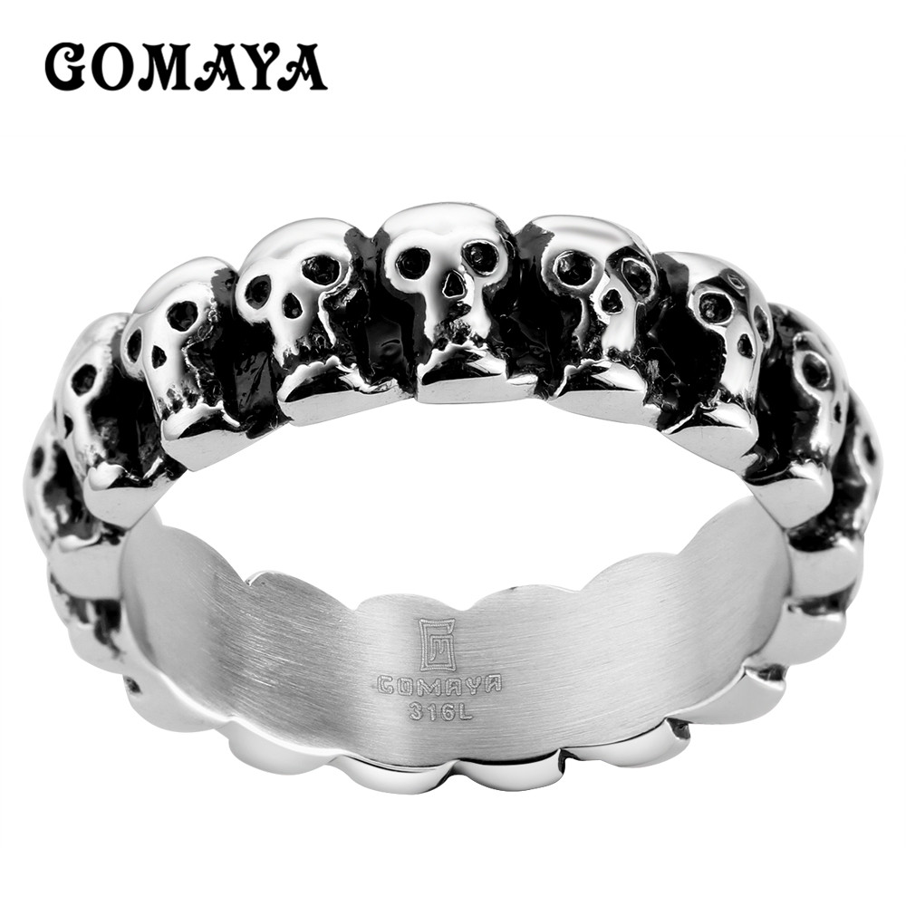 product sale image skullflow rings skeleton evil skull collections ghost ring