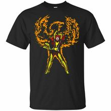 Jean Grey X-Men Dark Phoenix movie Marvel comic T-Shirt Black-Navy Men-Women . Short Sleeves Cotton Fashion