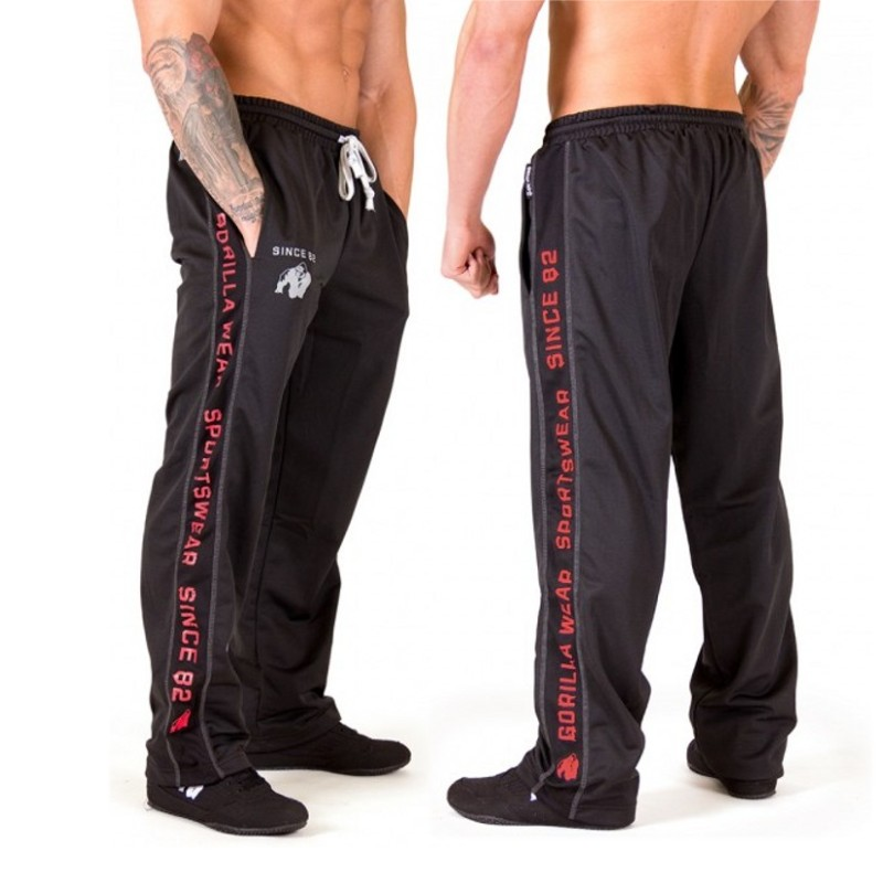 Mens Jogger Sweatpants 2018 New Fashion Loose Pants Joggers Striped Pants Gyms Clothing Men's Fitness Workout Sporting Trousers