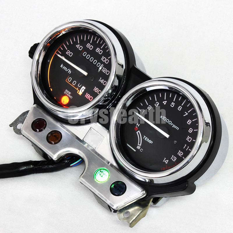 цена на Motorcycle Speedometer Odometer Tacho Gauge Tachometer Gauges Cluster Instrument Assembly For Honda CB400 CB 400 92 93 94