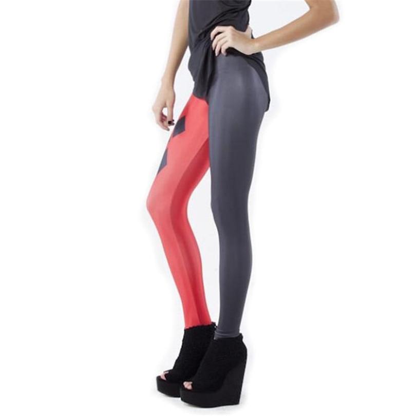 Women Black Red   Leggings   Autumn Casual Plaid Punk Rock Halloween 3D Digital Printing Milk Vintage Fashion Leggins For Woman K135