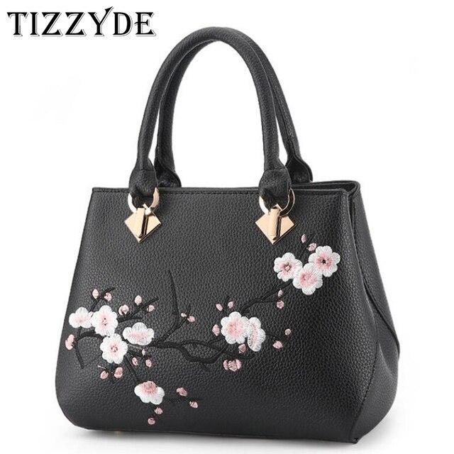 cfde28d90aac8 TIZZYDE Blumen Stickerei Frauen Messenger Tasche Kirschblüten Mode Einfache Beliebte  Handtaschen Dame Weibliche Marke Designer ZHP26