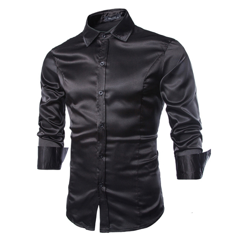 Black Shining Shirt