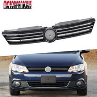 For VW Jetta MK6 2011 2012 2013 2014 Front Upper Center Grill Bumper Radiator Grille ABS