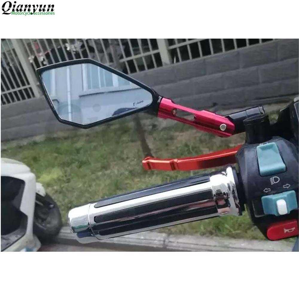 יוניברסל CNC אלומיניום סגסוגת אופנוע אחורית צד מראה עבור קוואסאקי yamaha ktm honda suzuki bmw ducati hyosung gsxr