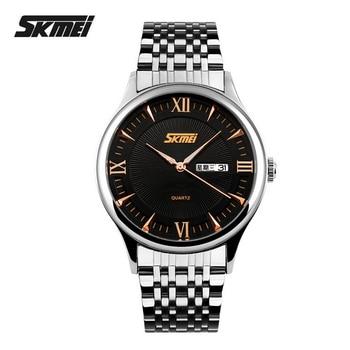 Skmei мужчины часы лучший бренд класса люкс мужчины из нержавеющей стали мужской часы наручные часы кварцевые спорт платье мужские часы Reloj пункт