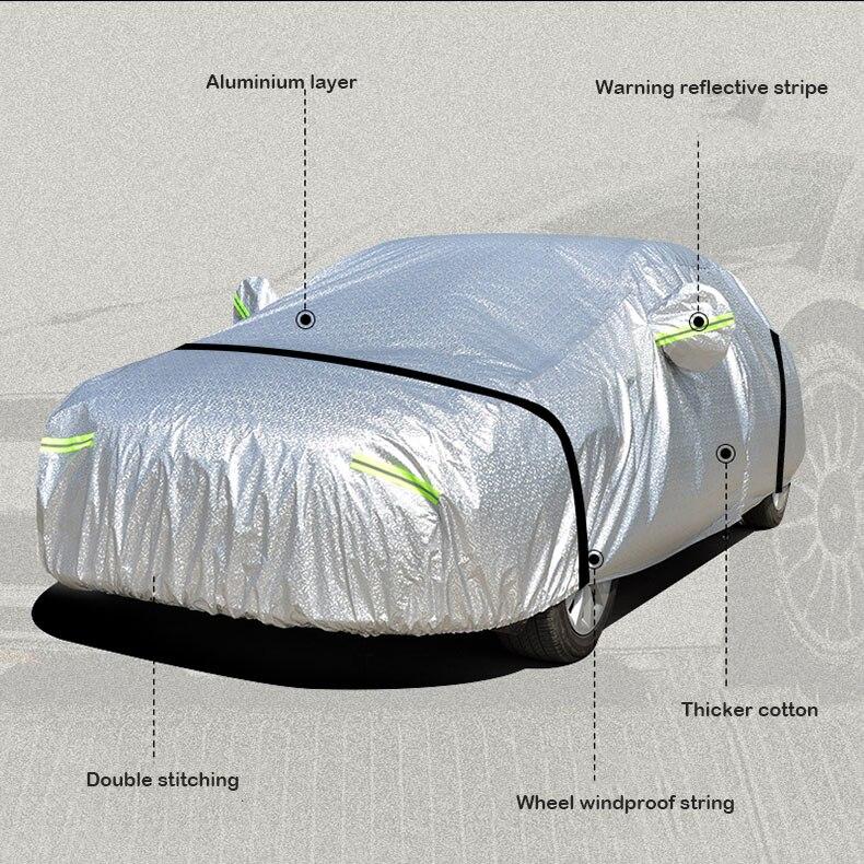 Grosso capa de carro 3 camada folha