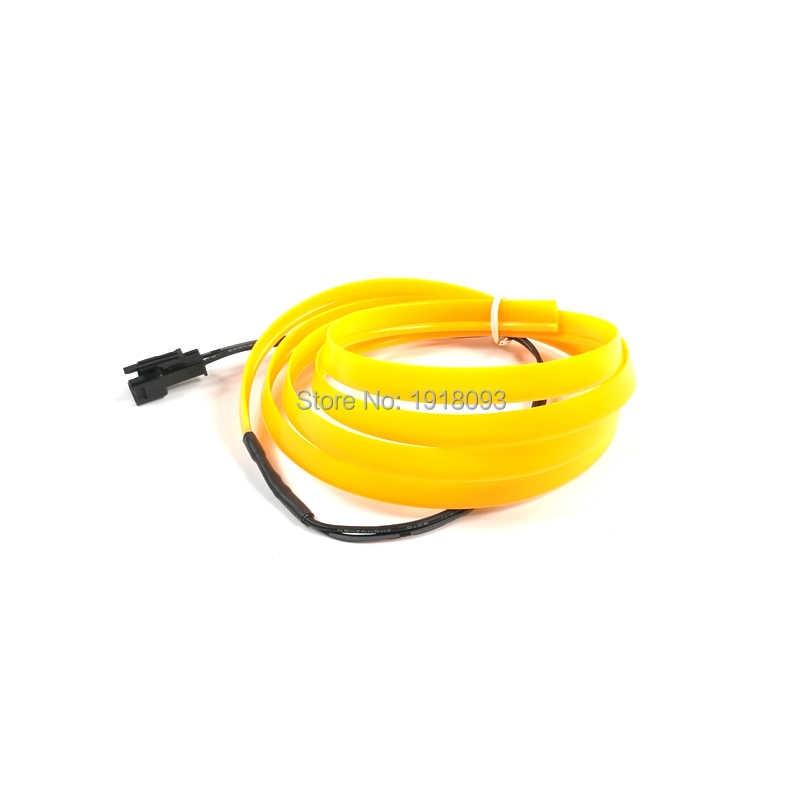 באיכות גבוהה גמיש EL חוט LED רצועת Tube חבל גמיש ניאון אור 2.3mm-חצאית 1 מטר צהוב רכב בתוך קישוט
