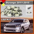 Plug & Play Car Interior Bulbs LED Kit Set Vehicle License Plate Map Dome Courtesy Lights White Fit 2011-2015 Durango
