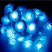 New Rose String 50m 400leds / 100m 600 Leds 220V Wedding New Year Garden Party Christmas Decoration Light(China)