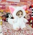 Симпатичные White Fox Животных Экипировка для BJD Куклы 1/12 Pukipuki Куклы AL6