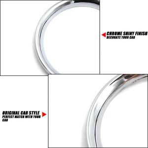 Image 5 - עבור ניסן Micra מרץ K13 2011 2012 2013 2014 2015 2016 2017 כרום A/C אוויר Vent טבעת כיסוי לקצץ רכב סטיילינג אביזרי מסגרת