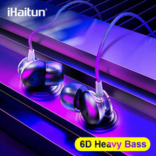 IHaitun 6D In Ohr Kopfhörer Bass Sound Sport Kopfhörer Für 6D Surround Sound Headset Für Xiaomi Samsung Huawei Handys