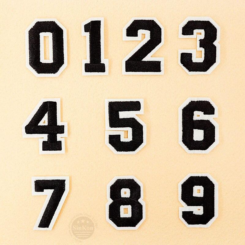 Numero 0 1 2 3 4 5 6 7 8 9 Pano Remendo Emblema Bordado Bonito