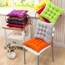 12 colores 40x40cm asiento cojín algodón perlado silla asiento trasero almohadón sofá almohada glúteos cómodo cojín silla decoración del hogar