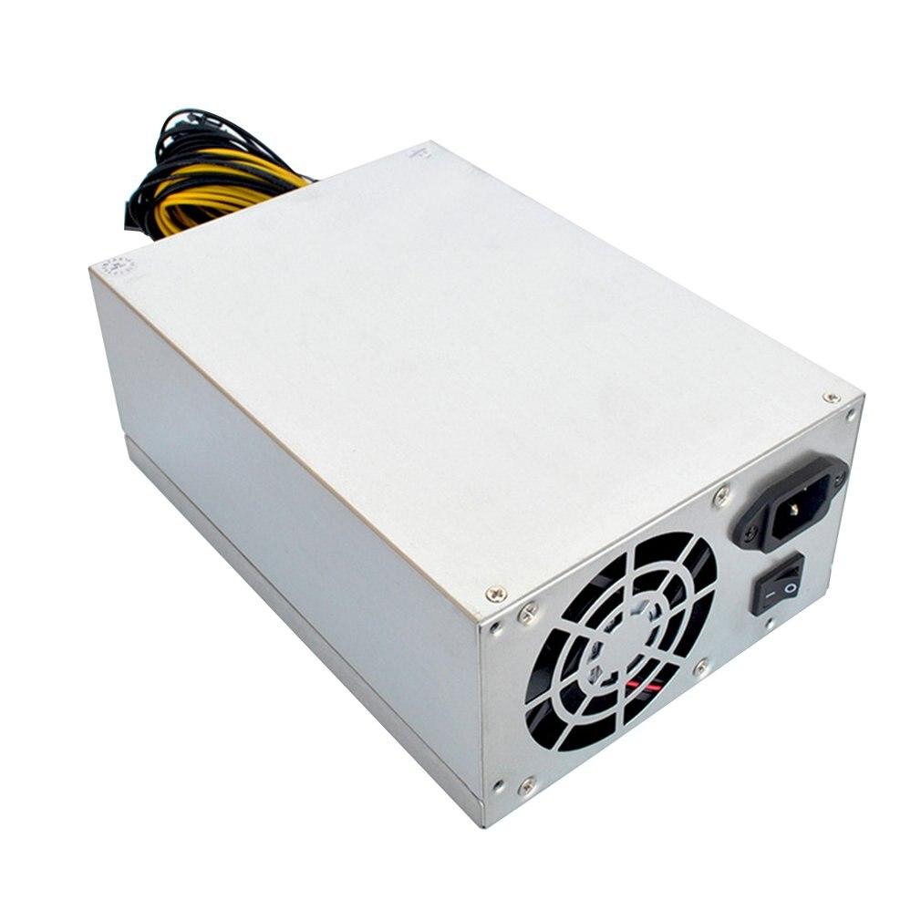 Alimentation de l'ordinateur ATX à sens unique 1800W pour la Machine minière prise en charge de la carte graphique puissance nominale Bitcoin