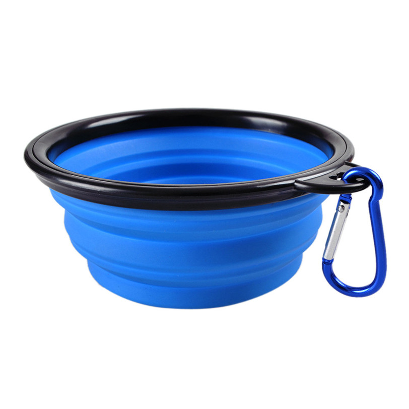 2019 Transer Dog Bowl Portable Foldable Collapsible Silicone Pet Cat Dog Food Water Feeding Travel Bowl drop shipping oT26 P40 1