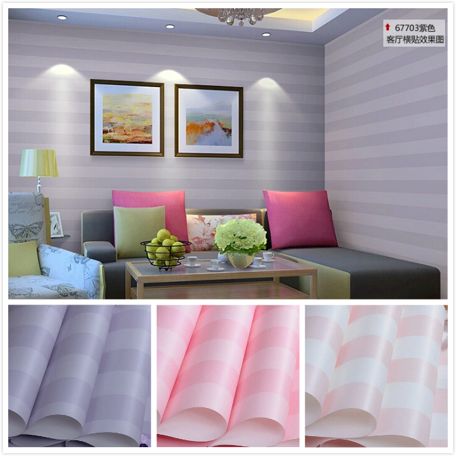 Buy modern romantic striped wallpaper - Pink and white striped wallpaper bedroom ...