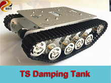 Official DOIT TS100 Silver Damping shock absorption Robot Tank car Chassis Suspension Caterpillar Tractor Chassis rc clawler diy