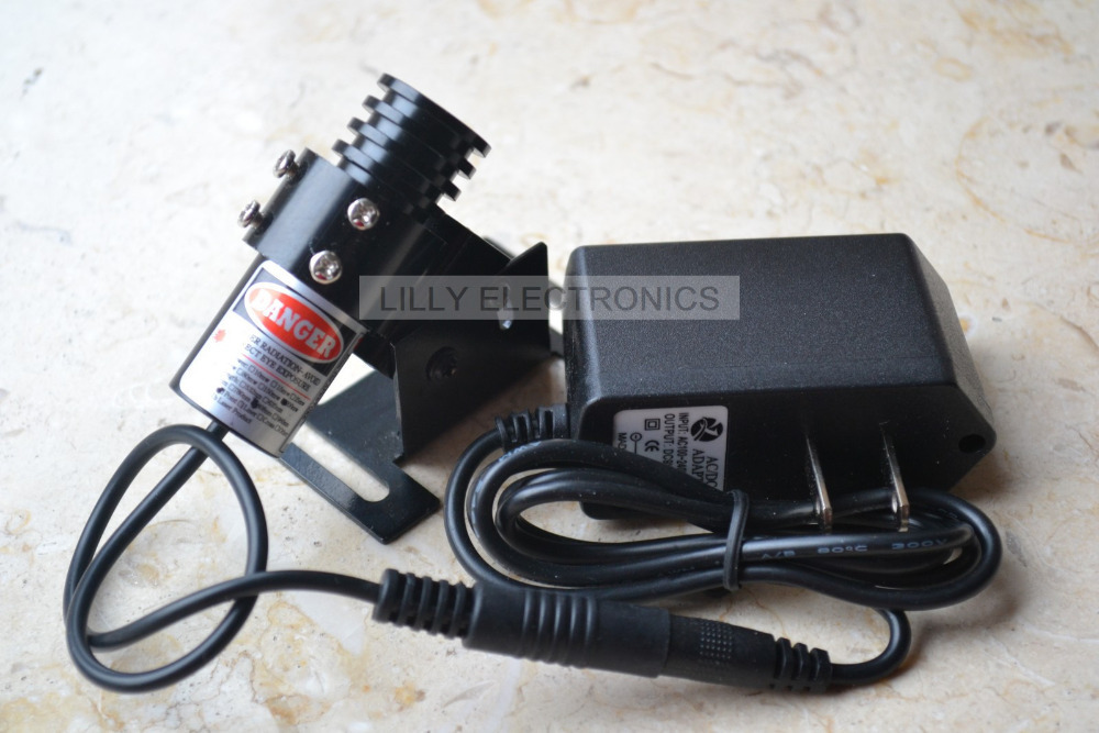 850nm 100mW IR Infrared Laser Focusable Dot Module + 5.0V AC Adapter + Mount