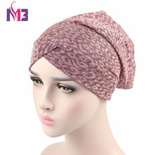 New Arrival Women Turban Hat Knit Beanie Skullies Breathable Turbante Baggy Headwear For Chemo