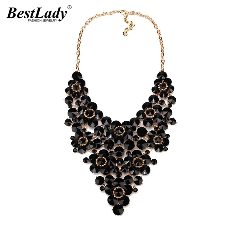 Best lady Full Crystal Gem Luxury Noble Bridal V Shaped Rhinestone Wedding Jewelry Dress Necklace Statement Collar B1117