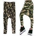 Moda mulheres Camouflag Big Crotch Pants Mans HipHop Harem Pants calças moda
