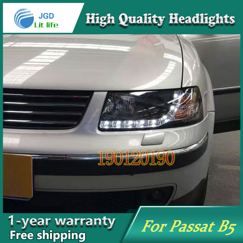 JGD Brand New Styling for VW PASSAT B5 LED Headlight 2000-2007 Headlight Bi-Xenon Head Lamp LED DRL Car Lights jgd brand new styling for audi a3 led headlight 2008 2012 headlight bi xenon head lamp led drl car lights