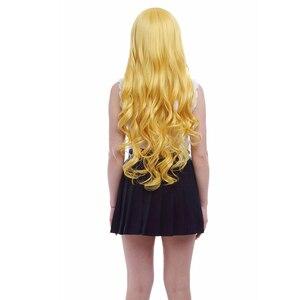 "Image 4 - L דוא""ל פאת הגעה חדשה כוכב לעומת כוחות רשע קוספליי פאות צהוב ארוך עמיד בחום סינטטי שיער perucas פאת קוספליי"