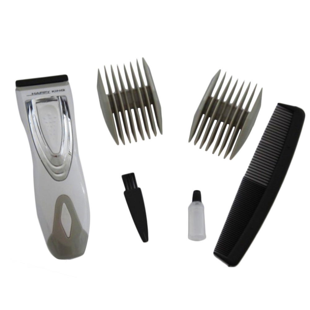Men's Electric Shaver Beard Razor Hair Clipper Body Groomer Hair Removal Power By Battery Handy Silver Clipping comb yuho yh 638 15w electric pet hair clipper set for dogs black silver