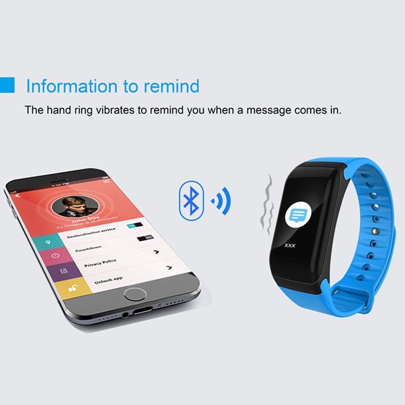 Image 2 - F1 Plus Color Lcd Screen Fitness Tracker Sleep Tracker Smart Bracelet Heart Rate Monitor Waterproof Smart Watch Activity Tracker-in Smart Wristbands from Consumer Electronics