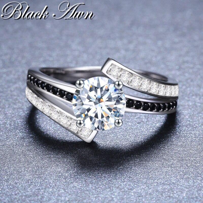 BLACK AWN 3.9g Classic 925 Sterling Silver Smycken Row Svart & Vitt - Fina smycken - Foto 3