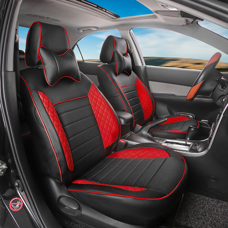 Cartailor Car Seat Cover Pu Leather Custom Fit For Chevrolet Spark