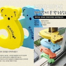 Stopper-Holder Jammers Safety-Guard Finger-Protection Baby Kids Cartoon Animal Lock 4pcs/Set